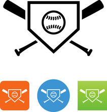 Baseball Logo Icon - Illustration