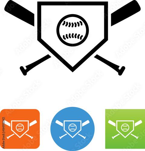 Baseball Logo Icon - Illustration Wall mural