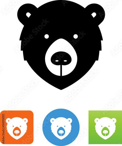 Fotografia, Obraz  Bear Face Icon - Illustration