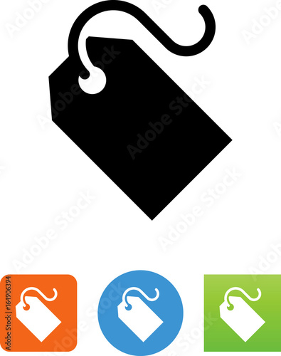 Fotografía  Blank Price Tag With String Icon - Illustration