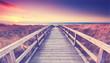 canvas print picture - romantischer Sommerabend am Meer
