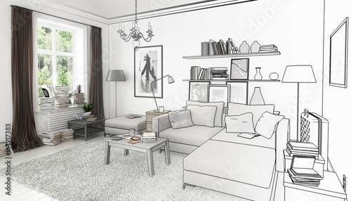 Bucher Im Wohnzimmer Einrichtung Und Dekoration Entwurf Kaufen