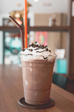 Chocolate Frappe With Whipped...
