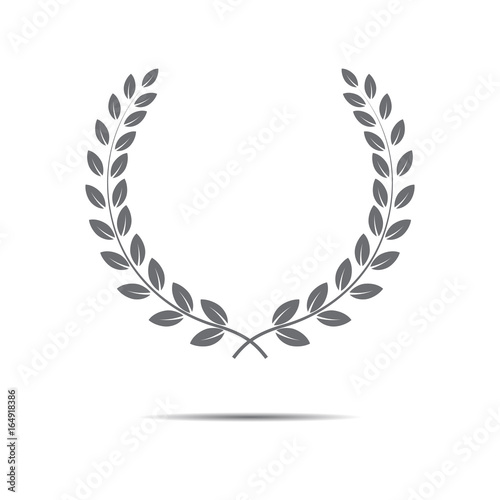 Photo  Vector laurel wreath icon.