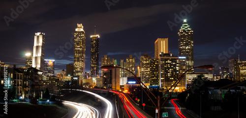 Long Exposure - Atlanta, Ga. -  From Jackson Street Bridge Canvas Print