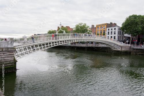 Zdjęcie XXL Podróżuj po Irlandii. Dublin, most Ha'penny
