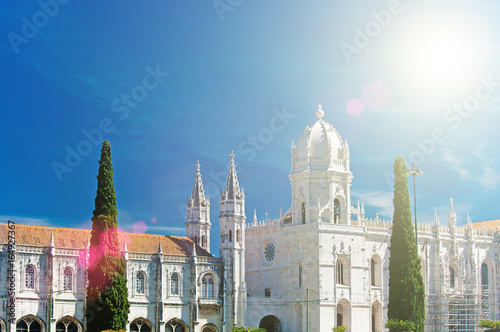 Fototapety, obrazy: Mosteiro dos Jeronimos (Hieronymites Monastery), located in the Belem district of Lisbon, Portugal.