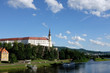 panorama of Decin nad labem, czech republic