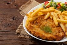 Chicken Schnitzel, Served With...