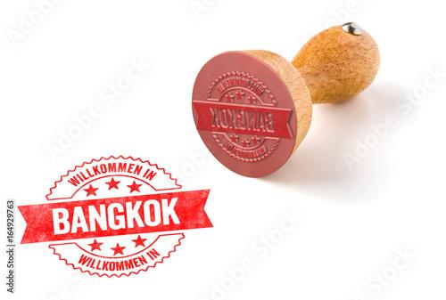 Holzstempel - Willkommen in Bangkok