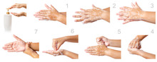 Hand Washing Medical Procedure Step By Step.