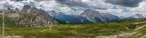 Fotografie, Obraz  Dolomites skyline panorama from 3 cime di lavaredo