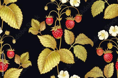botaniczny-bezszwowy-wzor-z-truskawka