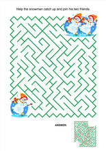 Maze Game Or Activity Page For...