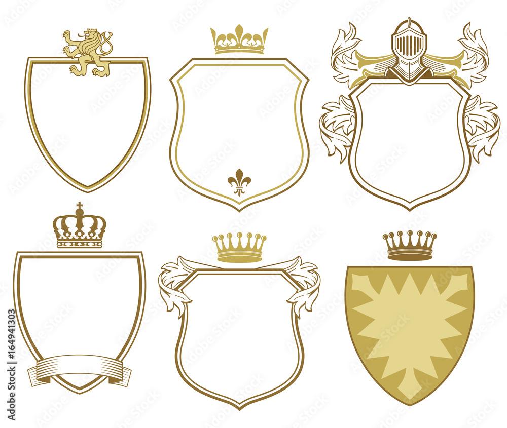 Fototapeta 6 Fürstliche Wappen und Schilder
