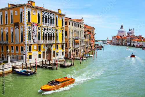 Fotografie, Obraz  View of Grand Canal and Basilica di Santa Maria della Salute in Venice, Italy