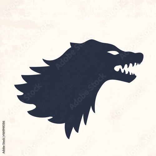 Wolf head. Vector illustrations Canvas Print