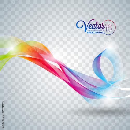 Staande foto Abstract wave Elegant vector flowing color wave design on transparent background.
