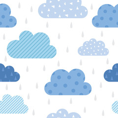 Fototapeta Cute cloud pattern