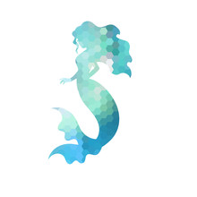 Silhouette Of Mermaid