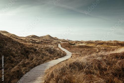 Foto op Aluminium Noordzee Blick zum Quermarkenfeuer auf der Insel Amrum, Deutschland