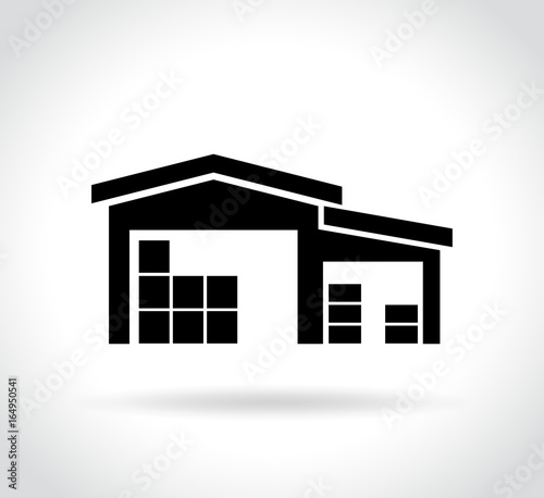 warehouse icon on white background Wall mural