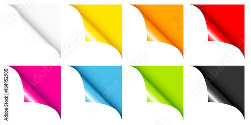 Fototapeta Set Of 8 Web Corners Full Color Angled obraz