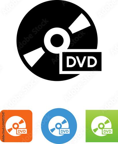 Cuadros en Lienzo DVD Disk Icon - Illustration