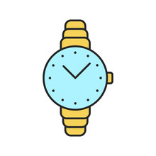 Women's Wristwatch Color Icon