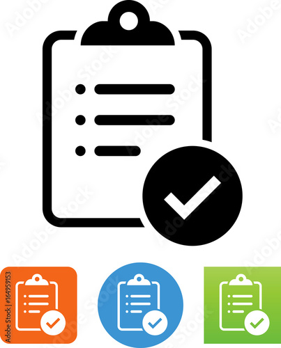 Clipboard With List And Checkmark Icon - Buy this stock