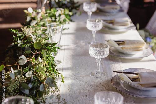 Romantic Lace Wedding Details Fototapet