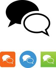 Communication Chat Icon - Illu...