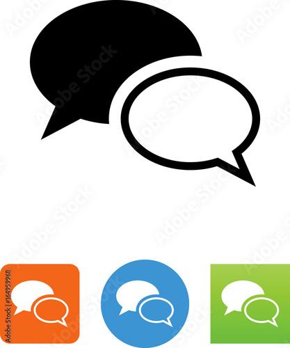 Communication Chat Icon - Illustration Canvas Print