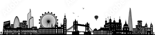Fototapeta London Skyline schwarz obraz