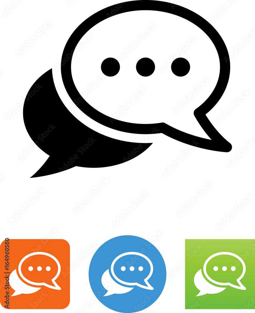 Fototapety, obrazy: Conversation Icon - Illustration