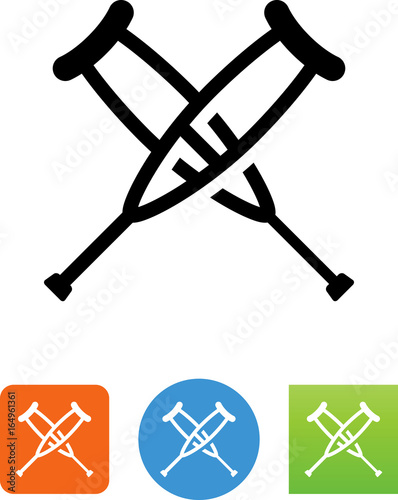 Fotografia Crutches Icon - Illustration