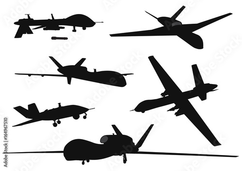 Weapon. Drones set Canvas Print