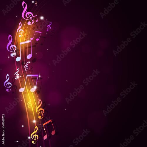 Plakaty Gatunki Muzyczne   musical-notes-background