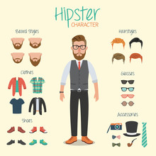 Hipster Character Illustration...
