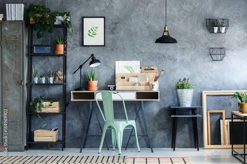 Obraz Loft office with vintage decor - fototapety do salonu