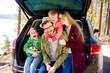 Leinwandbild Motiv Family going on a car trip