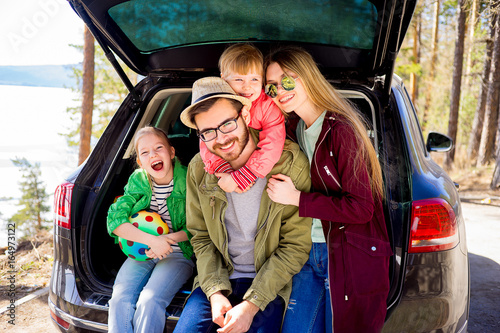 Fotografia, Obraz  Family going on a car trip