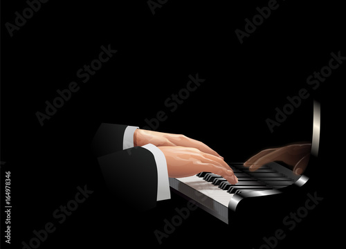 Fototapety, obrazy: Playing the piano