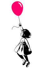 Little Girl Floating With A Re...