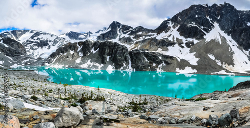 Wedgemount lake, Whistler, British Columbia, Canada - July 2017