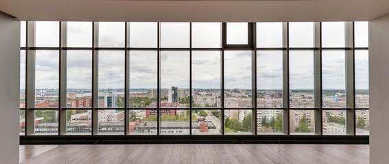 big glass window