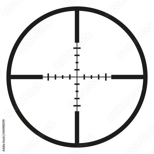 Cuadros en Lienzo  Vector Black Optical Sight