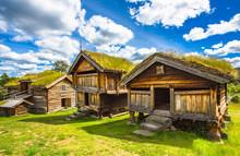 Old Traditional Norwegian Houses. Geilo, Norway.