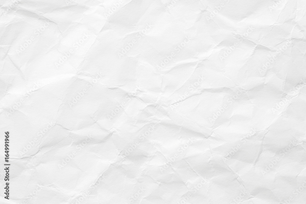 Fototapety, obrazy: The texture of white paper is crumpled. Background for various purposes.