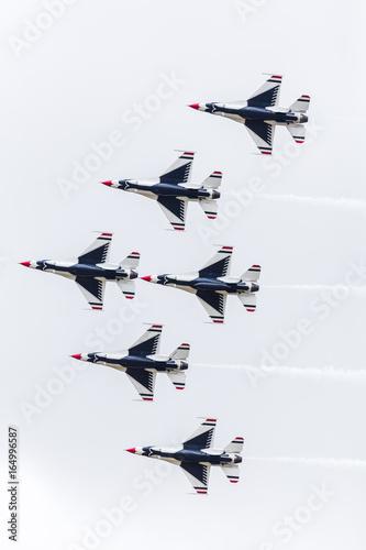 The Thunderbirds in tight formation Wallpaper Mural